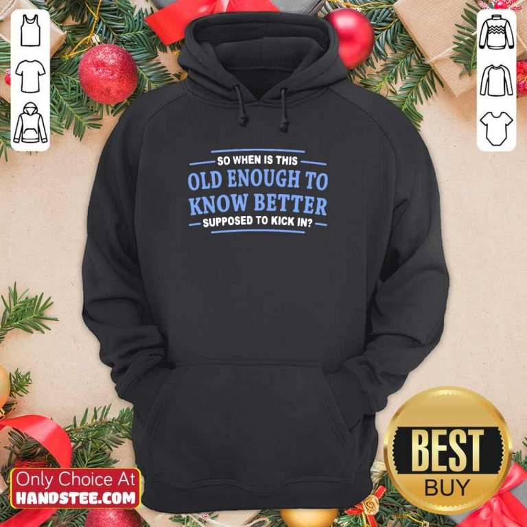 Top Enough To Know 3 Better Hoodie - Design by Handstee.com