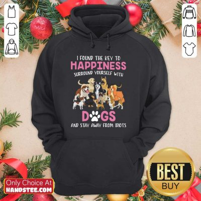 Top I Found Key To Happiness Surround 9 Hoodie - Design by Handstee.com