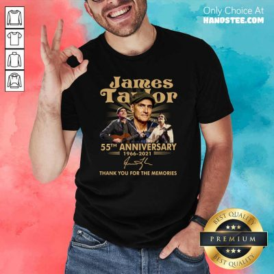 Top James Taylor 55th Anniversary Shirt - Design by Handstee.com