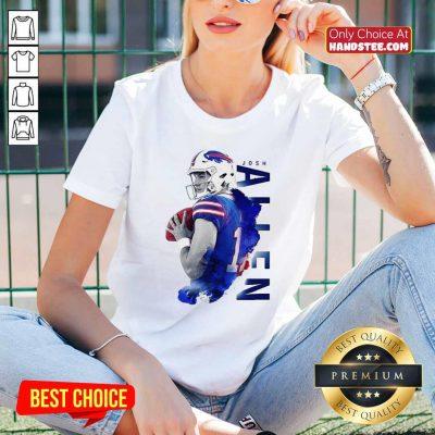 Top Josh Allen 17 Buffalo Bills Football V-neck - Design by handstee.com