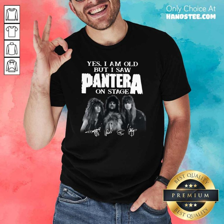 Top Yes I Saw Panther 48 On Stage Shirt - Design by Handstee.com
