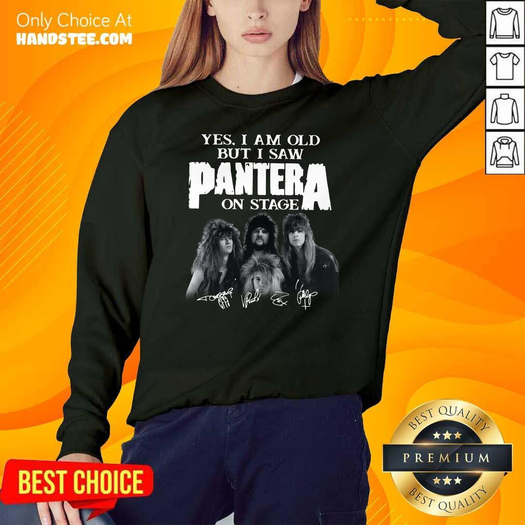 Top Yes I Saw Panther 48 On Stage SweatShirt - Design by Handstee.com