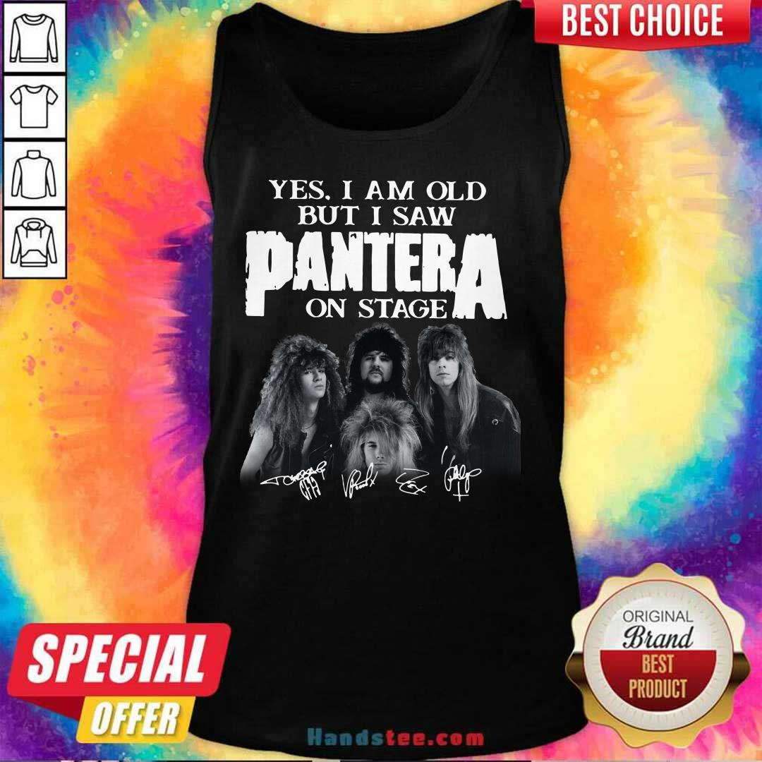 Top Yes I Saw Panther 48 On Stage Tank Top - Design by Handstee.com
