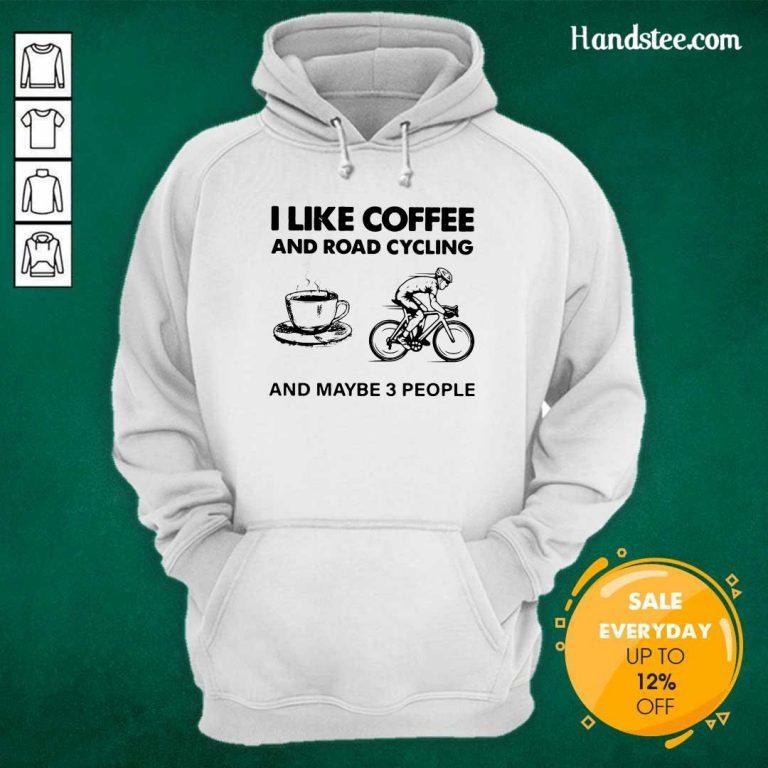 Victimised I Like Coffee And Road Cycling And Maybe 3 People Hoodie - Design by Handstee.com