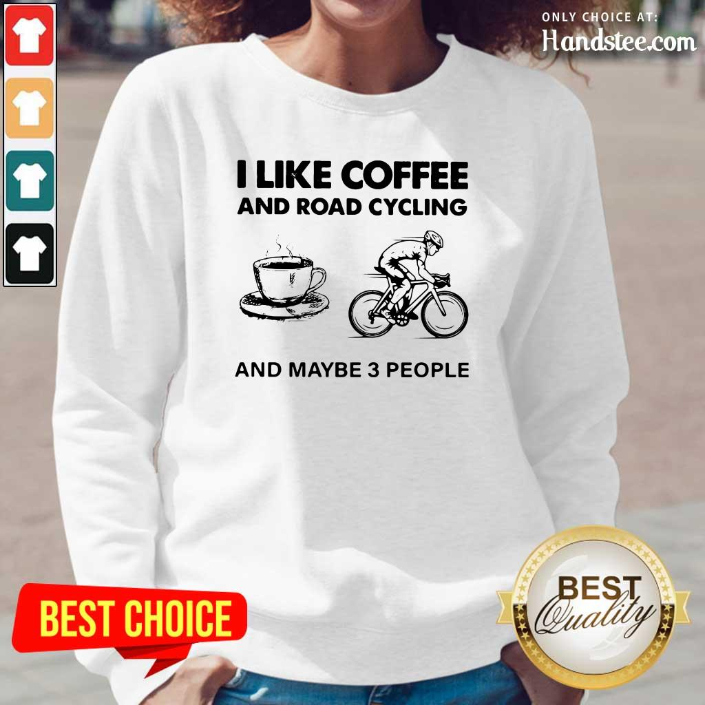 Victimised I Like Coffee And Road Cycling And Maybe 3 People Long-Sleeved - Design by Handstee.com