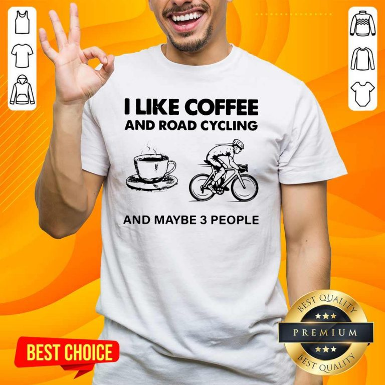 Victimised I Like Coffee And Road Cycling And Maybe 3 People Shirt - Design by Handstee.com