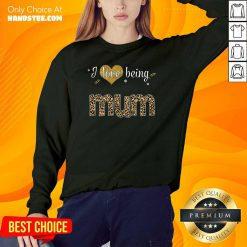 Amazing I Love 8 Being Mum Sweater - Design by Handstee.com