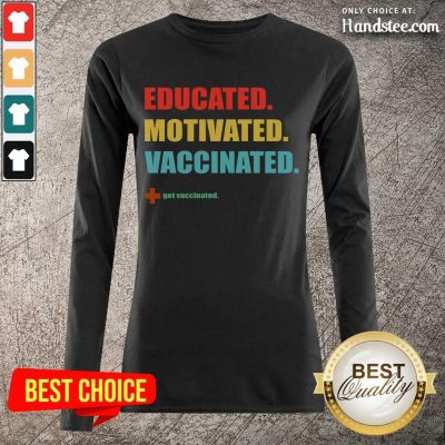 Amused Educated Motivated Vaccinated Long-Sleeved