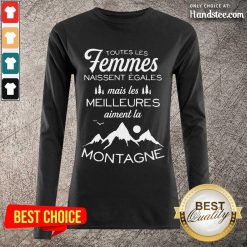 Amused Femmes Meilleures Montagne Long-Sleeved