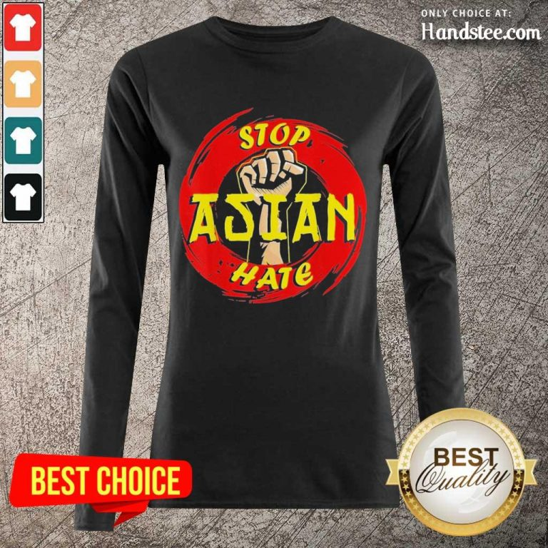 Amused Stop Asian Hate Proud Asian Long-Sleeved- Design By Handstee.com