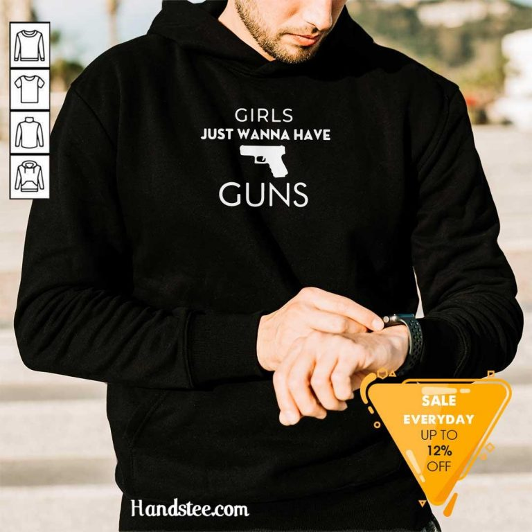 Awesome Girls Just 4 Girls Guns Hoodie - Design by Handstee.com