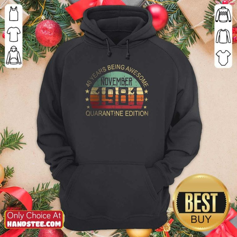 Confident 40 Years Edition November Hoodie - Design By Handstee.com