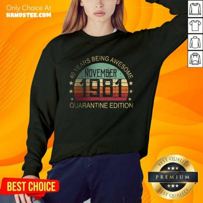 Confident 40 Years Edition November Sweater - Design By Handstee.com