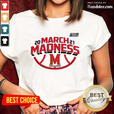 Confident Maryland 2021 March Madness Ladies Tee - Design By Handstee.com