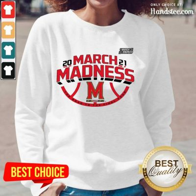 Confident Maryland 2021 March Madness Long-Sleeved - Design By Handstee.com