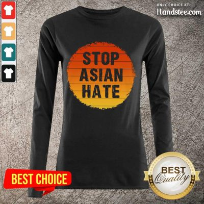 Confident Stop Asian Hate Vintage Long-Sleeved