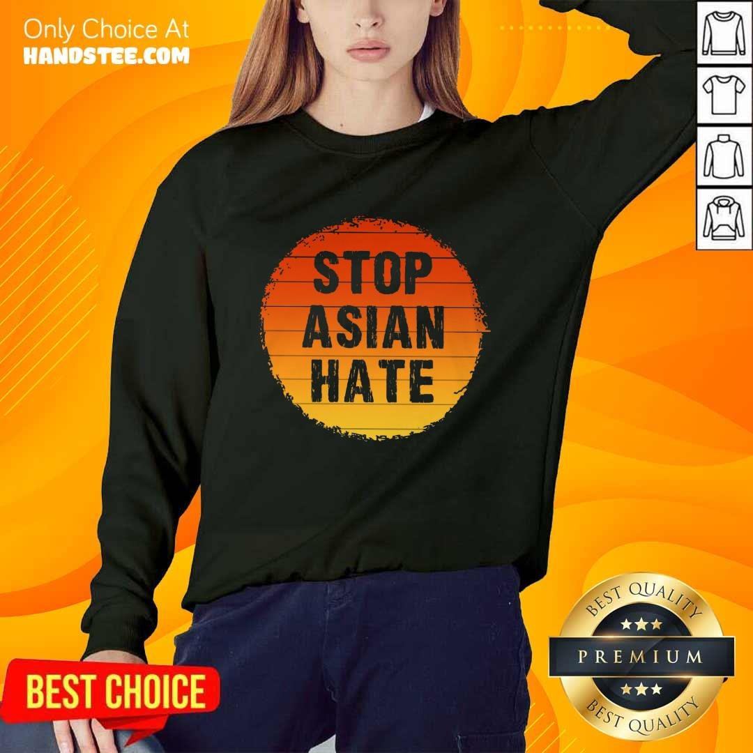 Confident Stop Asian Hate Vintage Sweater