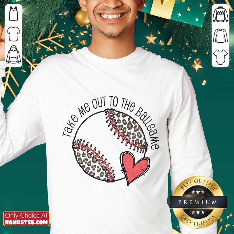 Confident Take Me Out To The Ball Game Sweater