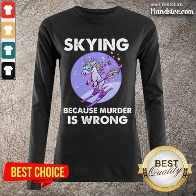 Confident Unicorn Skiing Long-Sleeved - Design By Handstee.com
