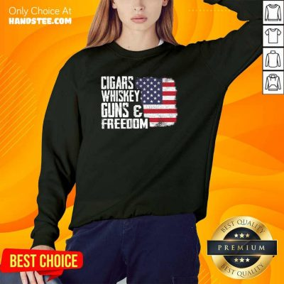 Cool Cigars Whiskey 9 Guns And Freedom Sweater - Design by Handstee.com