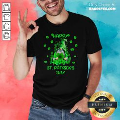 Cute 1 Gnome Happy St Patricks Day Shirt - Design by Handstee.com