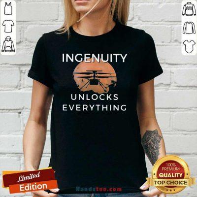 Cute 11 Ingenuity Unlocks Everything Ladies Tee - Design by Handstee.com