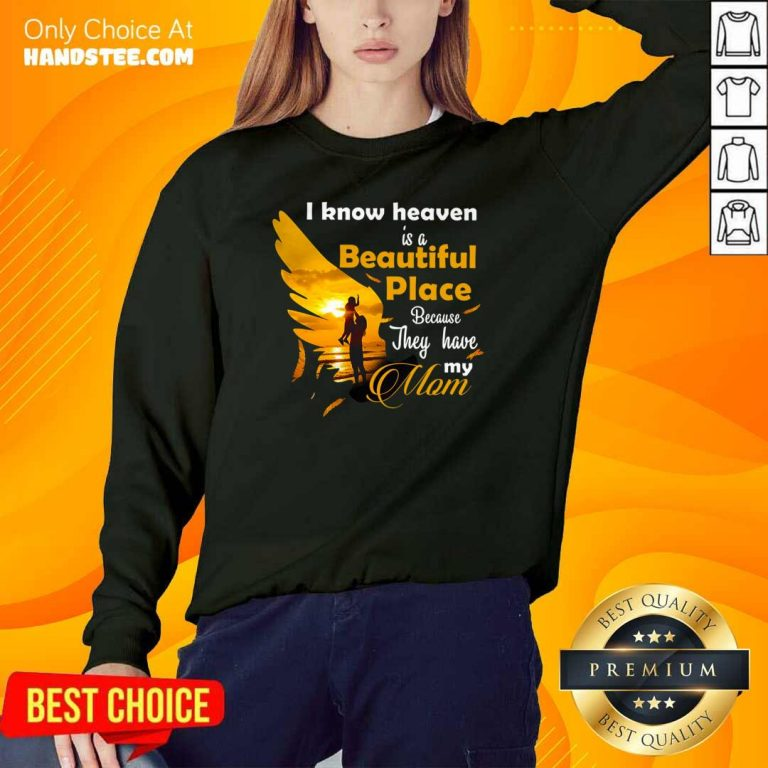 Cute 7 Heaven Is A Beautiful Mom Sweater - Design by Handstee.com