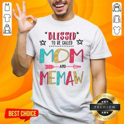 Cute Blessed 9 Memaw Mother Shirt - Design by Handstee.com