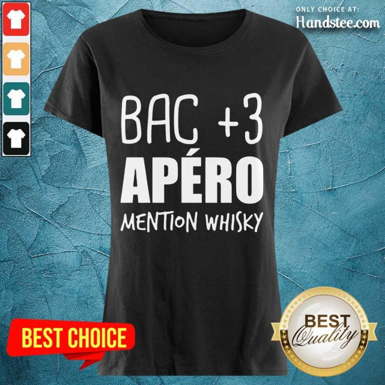 Delighted Bac 3 Apéro Mention Whisky Ladies Tee