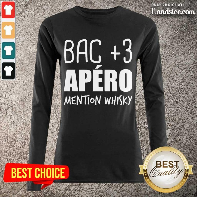 Delighted Bac 3 Apéro Mention Whisky Long-Sleeved