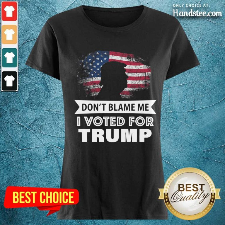 Delighted I Voted For Trump 8 Ladies Tee - Design By Handstee.com
