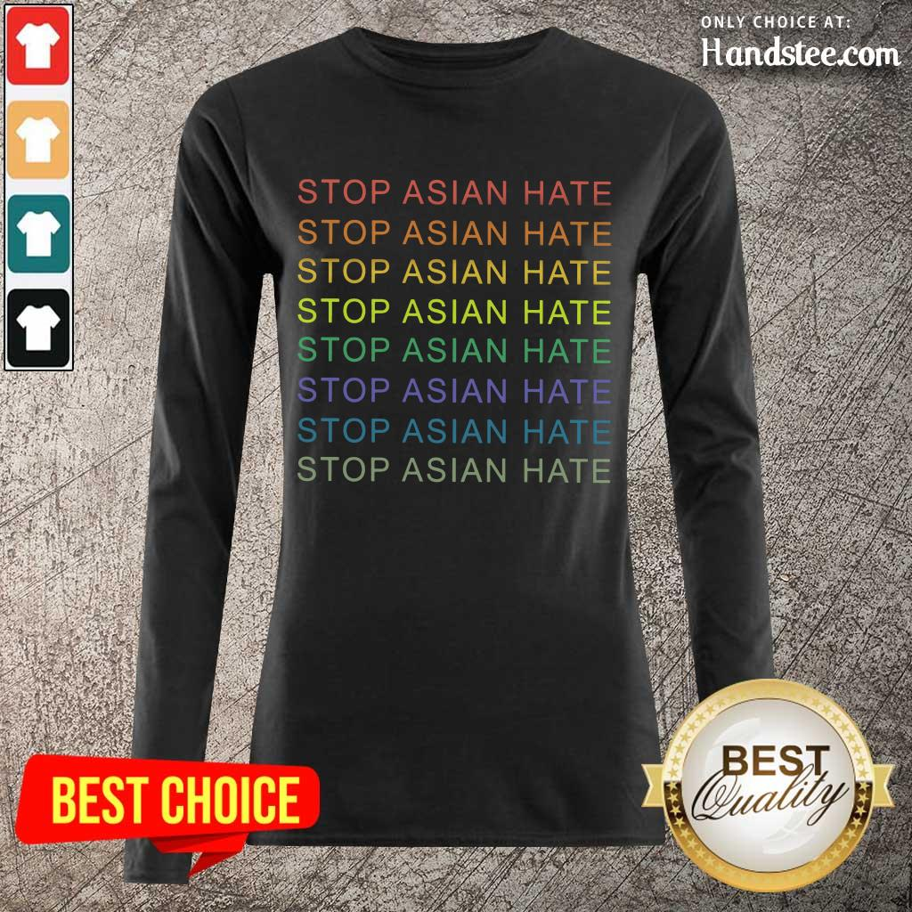 Delighted Stop Asian Hate LGBT Great Long-Sleeved