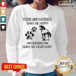 Ecstatic Dogs And Horses Humans Long-Sleeved