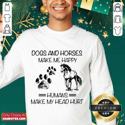 Ecstatic Dogs And Horses Humans Sweater