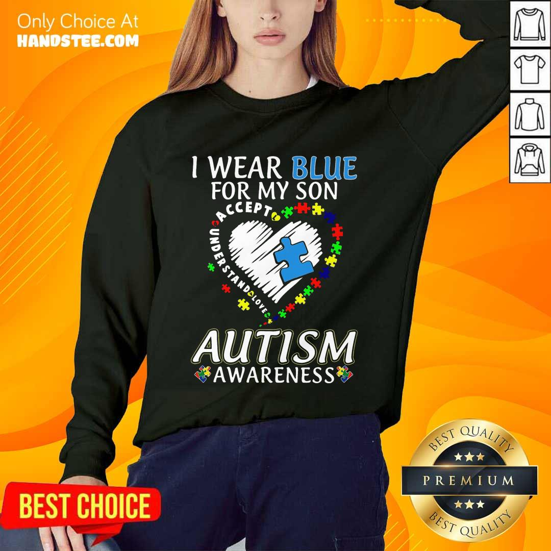 Ecstatic I Wear Blue For My Son Sweater