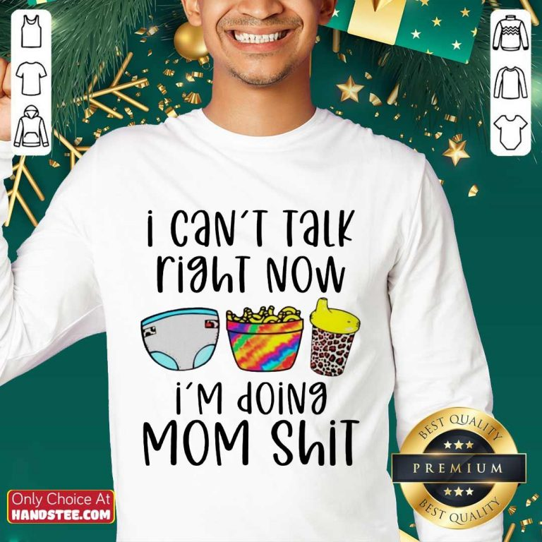 Enthusiastic I Can Talk Right Now Mom Sweater