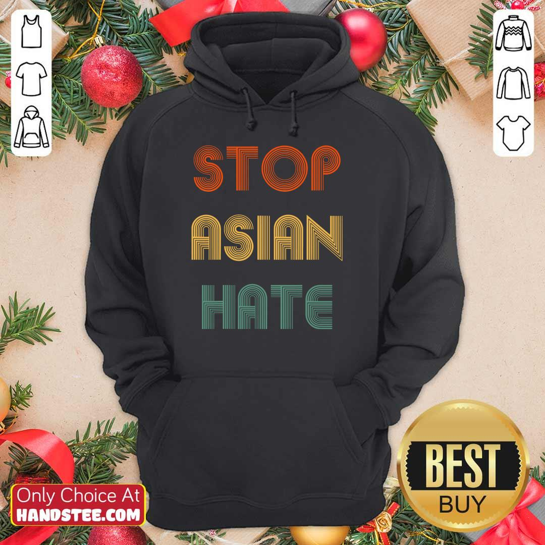 Enthusiastic Stop Asian Hate Color Hoodie
