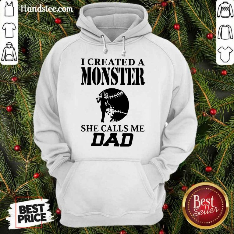 Excited 2 I Created A Monster Dad Super Hoodie - Design By Handstee.com