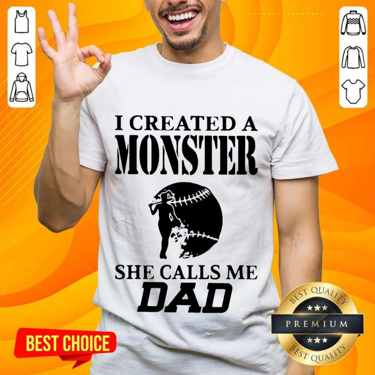 Excited 2 I Created A Monster Dad Super Shirt- Design By Handstee.com