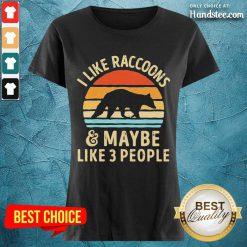 Excited I Like Raccoons Vintage Ladies Tee - Design By Handstee.com