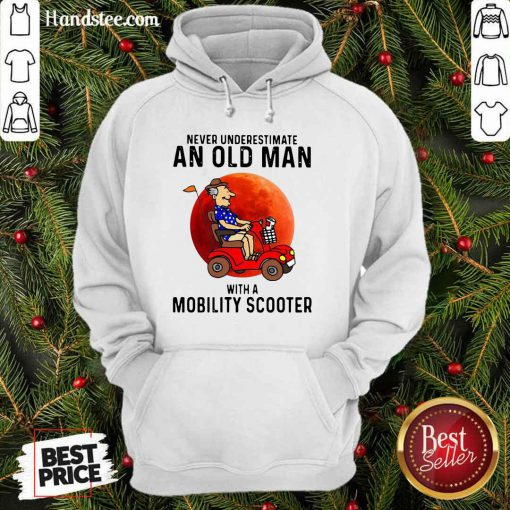 Excited Old Man A Mobility Scooter 1 Hoodie - Design By Handstee.com