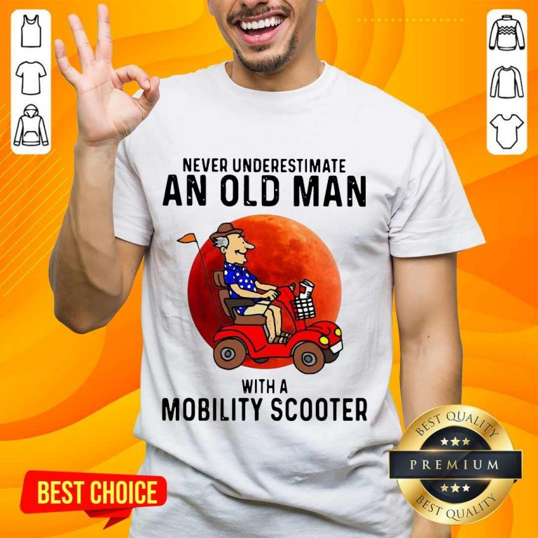 Excited Old Man A Mobility Scooter 1 Shirt - Design By Handstee.com