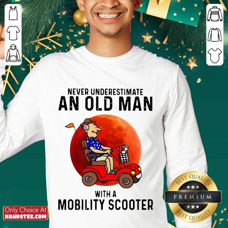 Excited Old Man A Mobility Scooter 1 Sweater - Design By Handstee.com