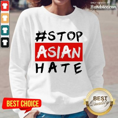 Excited Stop Asian Hate Overjoyed Long-Sleeved