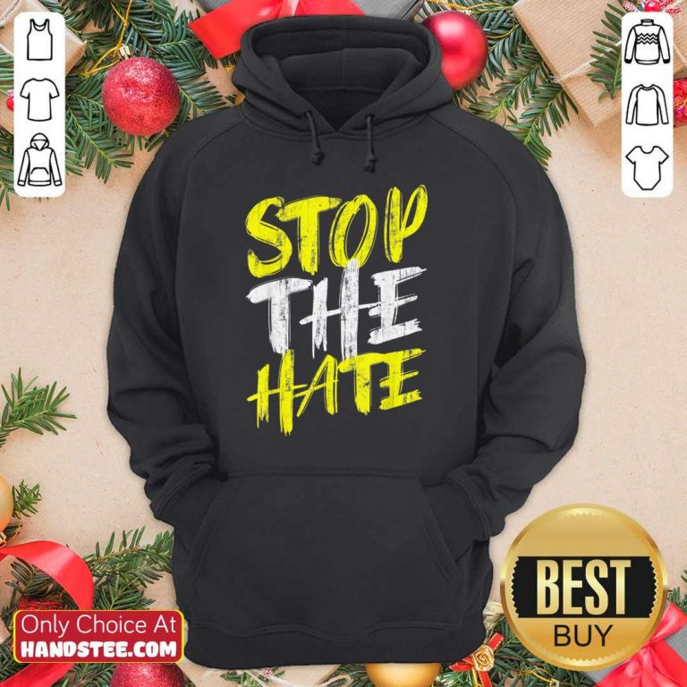 Excited Stop The Hate Asian Comfortable Hoodie