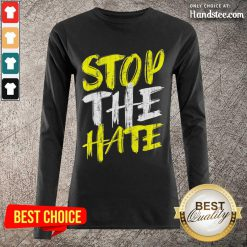Excited Stop The Hate Asian Comfortable Long-Sleeved