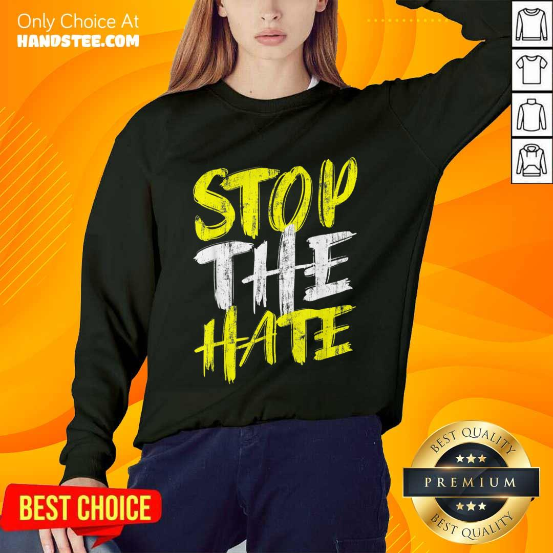 Excited Stop The Hate Asian Comfortable Sweater