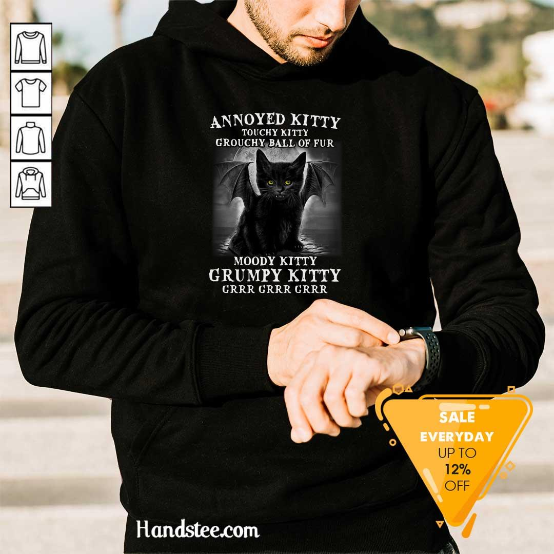 Funny 7 Annoyed Touchy Kitty Grouchy Hoodie - Design by Handstee.com