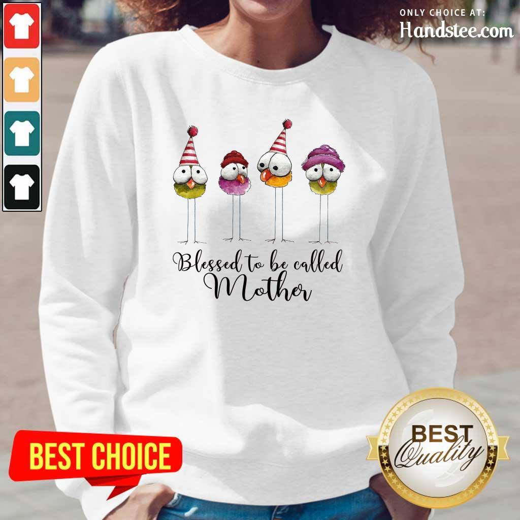 Funny Blessed To Be Called Mother Long Sleeved - Design by Handstee.com
