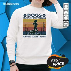 Good Dogs Solve Problems 3 Sweater - Design by Handstee.com